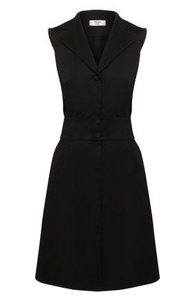 Женское хлопковое платье WEILL черного цвета, арт. 125011   Фото 1
