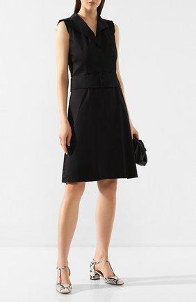 Женское хлопковое платье WEILL черного цвета, арт. 125011   Фото 2