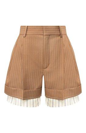 Женские шерстяные шорты CHLOÉ коричневого цвета, арт. CHC20USH11063 | Фото 1
