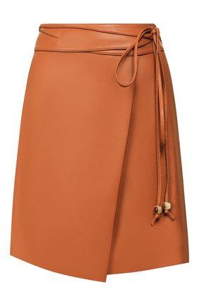 Женская юбка NANUSHKA оранжевого цвета, арт. SEK0YA_BURNT 0RANGE_VEGAN LEATHER | Фото 1