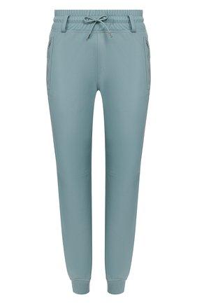 Женские кожаные джоггеры TOM FORD голубого цвета, арт. PAL698-LEX251 | Фото 1