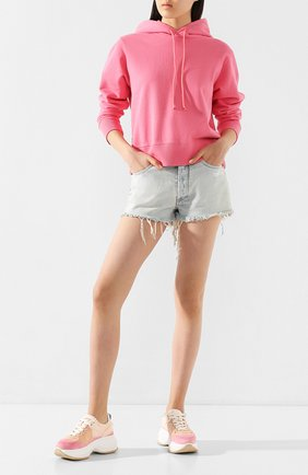 Женские текстильные кроссовки HOGAN розового цвета, арт. HXW4350BP22YJ3 | Фото 2