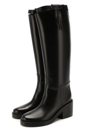 Женские кожаные сапоги ANN DEMEULEMEESTER черного цвета, арт. 2013-2802-W-366-099   Фото 1