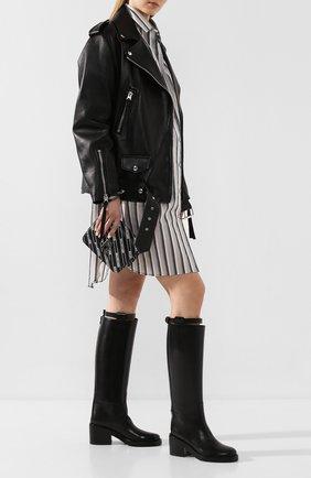 Женские кожаные сапоги ANN DEMEULEMEESTER черного цвета, арт. 2013-2802-W-366-099   Фото 2