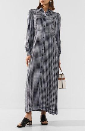 Женские кожаные мюли k-round KENZO черного цвета, арт. FA52MU012L66 | Фото 2