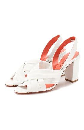 Женские кожаные босоножки SANTONI белого цвета, арт. WHTP58516HI2SUNPI70 | Фото 1