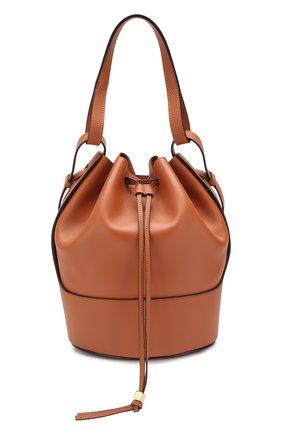 Женская сумка balloon LOEWE светло-коричневого цвета, арт. 326.75AC30 | Фото 1