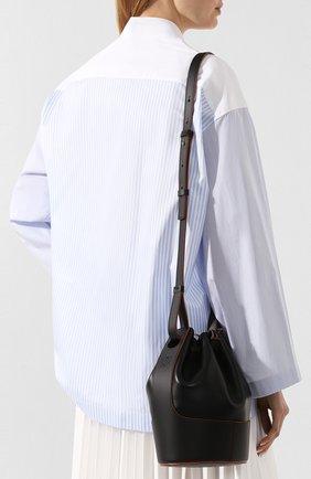 Женская сумка balloon small LOEWE черного цвета, арт. 326.75AC31   Фото 5 (Сумки-технические: Сумки через плечо; Материал: Натуральная кожа; Ремень/цепочка: На ремешке; Размер: small)