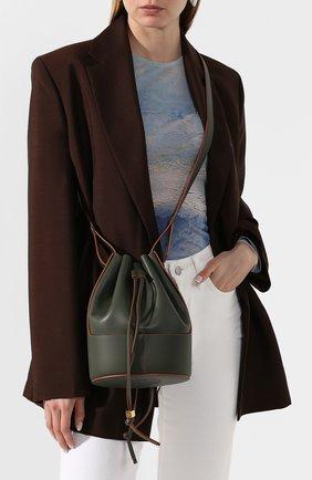 Женская сумка balloon small LOEWE хаки цвета, арт. 326.75AC31 | Фото 2 (Сумки-технические: Сумки через плечо; Материал: Натуральная кожа; Ремень/цепочка: На ремешке; Размер: small)