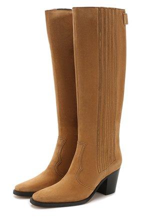 Женские замшевые сапоги GANNI бежевого цвета, арт. S1215 | Фото 1