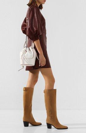 Женские замшевые сапоги GANNI бежевого цвета, арт. S1215 | Фото 2