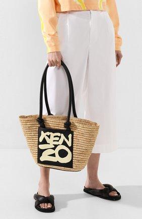 Женская сумка basket KENZO кремвого цвета, арт. FA52SA500B09 | Фото 2