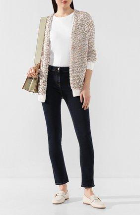 Женские кожаные лоферы TOD'S белого цвета, арт. XXW79A0CX60MID | Фото 2