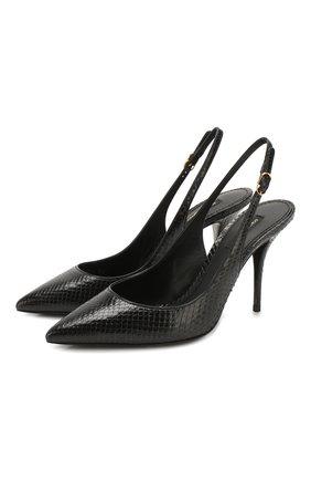 Женская туфли lori из кожи питона DOLCE & GABBANA черного цвета, арт. CG0423/A2V37/PBIV | Фото 1
