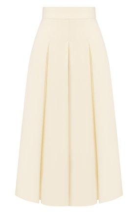Женская шерстяная юбка JM STUDIO белого цвета, арт. JMSS2023 | Фото 1