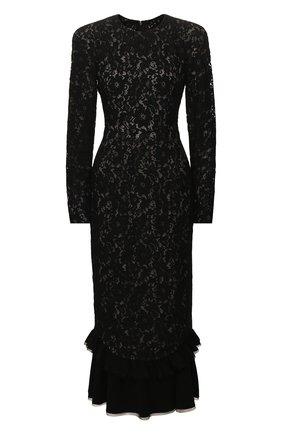 Женское платье-миди ULYANA SERGEENKO черного цвета, арт. ABM030FW19P (0193р19) | Фото 1
