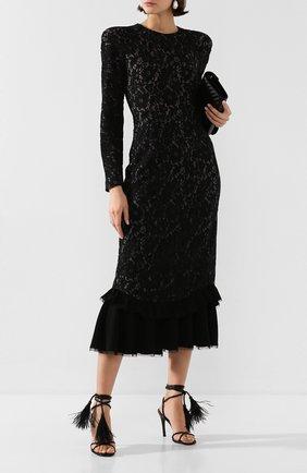 Женское платье-миди ULYANA SERGEENKO черного цвета, арт. ABM030FW19P (0193р19) | Фото 2