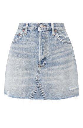 Женская джинсовая юбка AGOLDE голубого цвета, арт. A068F-811 | Фото 1