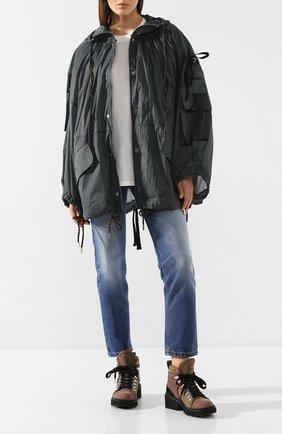 Женская куртка 2 moncler 1952 MONCLER GENIUS темно-серого цвета, арт. F1-094-1B504-80-C0450 | Фото 2