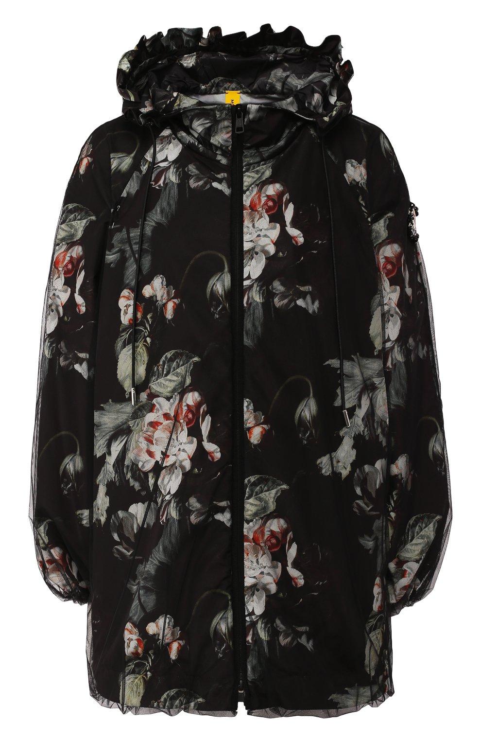 Женская куртка 4 moncler simone rocha MONCLER GENIUS черного цвета, арт. F1-09W-1B705-00-C0544 | Фото 1
