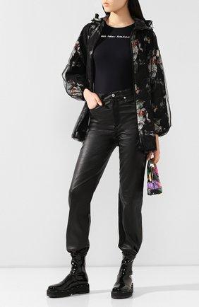 Женская куртка 4 moncler simone rocha MONCLER GENIUS черного цвета, арт. F1-09W-1B705-00-C0544 | Фото 2