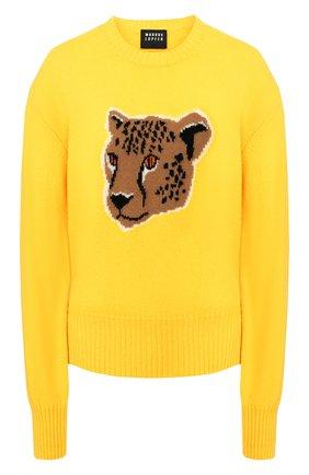 Женская шерстяной пуловер MARKUS LUPFER желтого цвета, арт. KN2847 | Фото 1