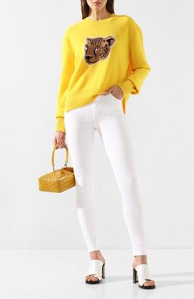 Женская шерстяной пуловер MARKUS LUPFER желтого цвета, арт. KN2847 | Фото 2