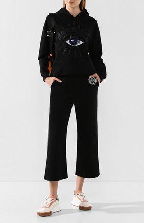 Женская хлопковое худи KENZO черного цвета, арт. FA52SW7724XM | Фото 2