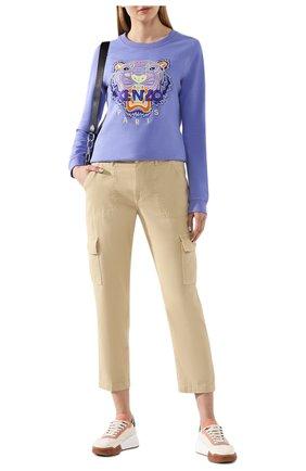 Женская хлопковый свитшот KENZO сиреневого цвета, арт. FA52SW7054XA | Фото 2