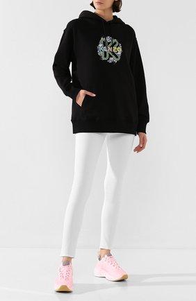 Женская хлопковое худи KENZO черного цвета, арт. FA52SW963962 | Фото 2