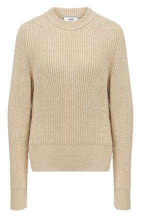 Женская свитер AMI бежевого цвета, арт. E20FK023.003 | Фото 1