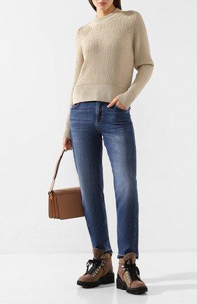 Женская свитер AMI бежевого цвета, арт. E20FK023.003 | Фото 2