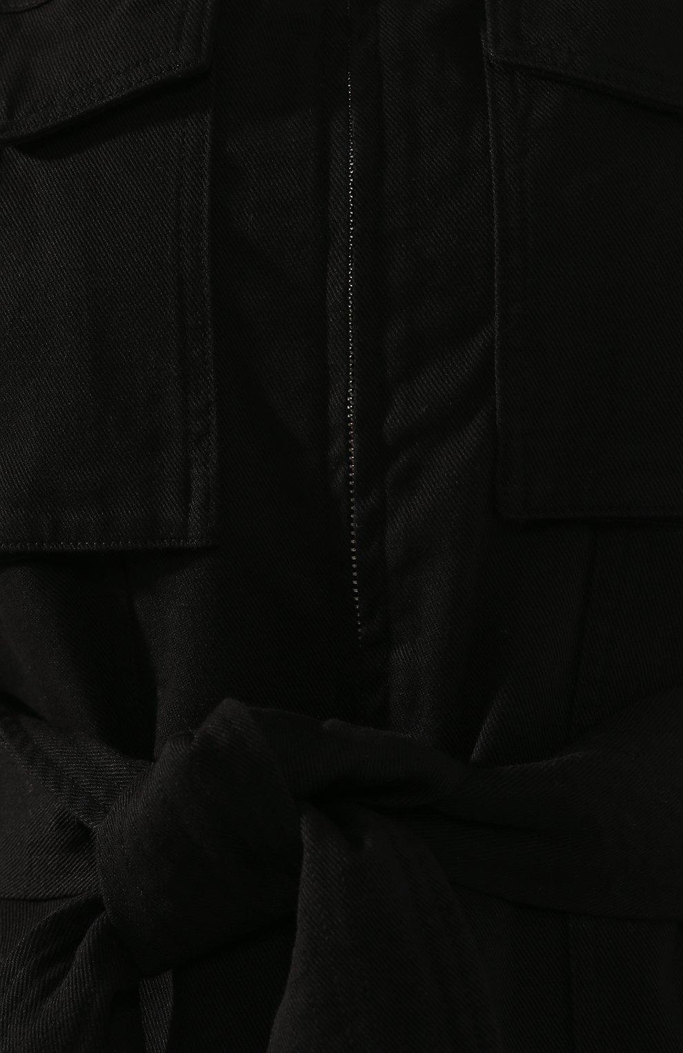Женский комбинезон AMI черного цвета, арт. E20FJS102.230 | Фото 5
