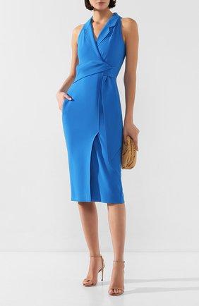 Женское платье ROLAND MOURET синего цвета, арт. SS20/S0902/F2241 | Фото 2