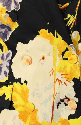 Женский жакет из смеси вискозы и хлопка DRIES VAN NOTEN черного цвета, арт. 201-10421-9059   Фото 5