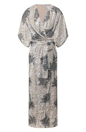 Женское платье с пайетками IN THE MOOD FOR LOVE серебряного цвета, арт. ANCENS DRESS | Фото 1