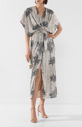 Женское платье с пайетками IN THE MOOD FOR LOVE серебряного цвета, арт. ANCENS DRESS | Фото 2