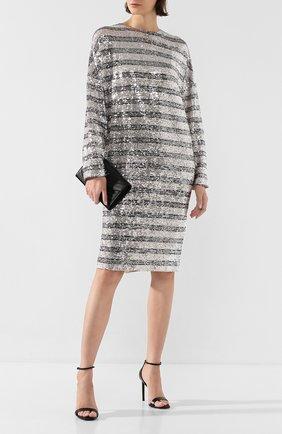 Женское платье с пайетками IN THE MOOD FOR LOVE серебряного цвета, арт. ELISA STRIPED DRESS | Фото 2