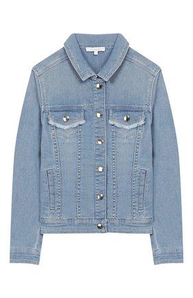 Детская джинсовая куртка CHLOÉ голубого цвета, арт. C16357 | Фото 1