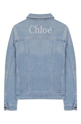 Детская джинсовая куртка CHLOÉ голубого цвета, арт. C16357 | Фото 2