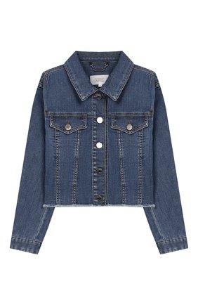 Детская джинсовая куртка GIVENCHY синего цвета, арт. H16059 | Фото 1