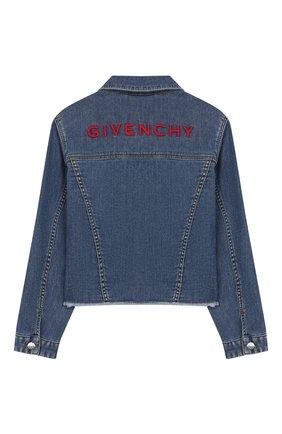 Детская джинсовая куртка GIVENCHY синего цвета, арт. H16059 | Фото 2