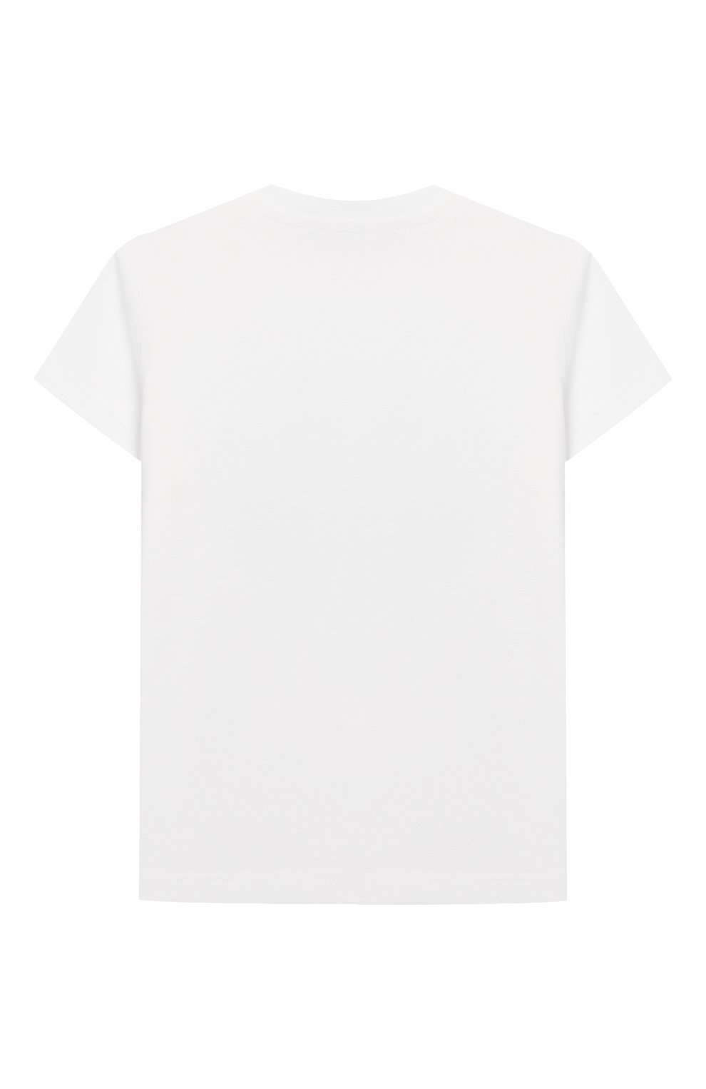 Детский хлопковая футболка KENZO белого цвета, арт. KQ10618-BB   Фото 2 (Рукава: Короткие; Материал внешний: Хлопок)