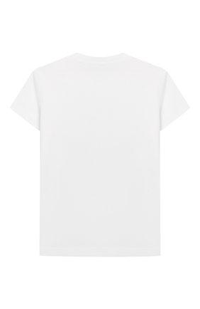 Детский хлопковая футболка KENZO белого цвета, арт. KQ10618-BB | Фото 2