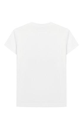 Детский хлопковая футболка KENZO белого цвета, арт. KQ10527 | Фото 2