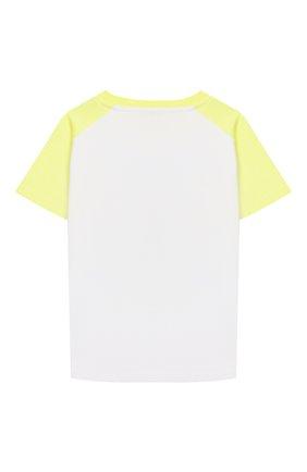 Детская хлопковая футболка KENZO разноцветного цвета, арт. KQ10508 | Фото 2