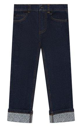 Детские джинсы KENZO синего цвета, арт. KQ22518 | Фото 1