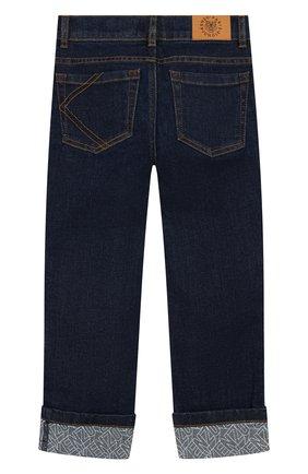 Детские джинсы KENZO синего цвета, арт. KQ22518 | Фото 2