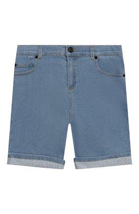 Детские джинсовые шорты KENZO голубого цвета, арт. KQ25618 | Фото 1