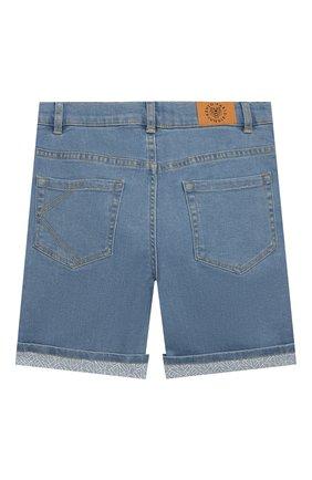Детские джинсовые шорты KENZO голубого цвета, арт. KQ25618 | Фото 2